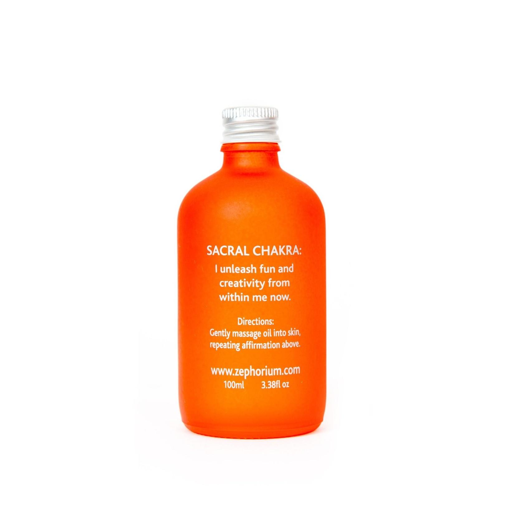 Zephorium Carnelian body & massage oil Zephorium - sacraal chakra