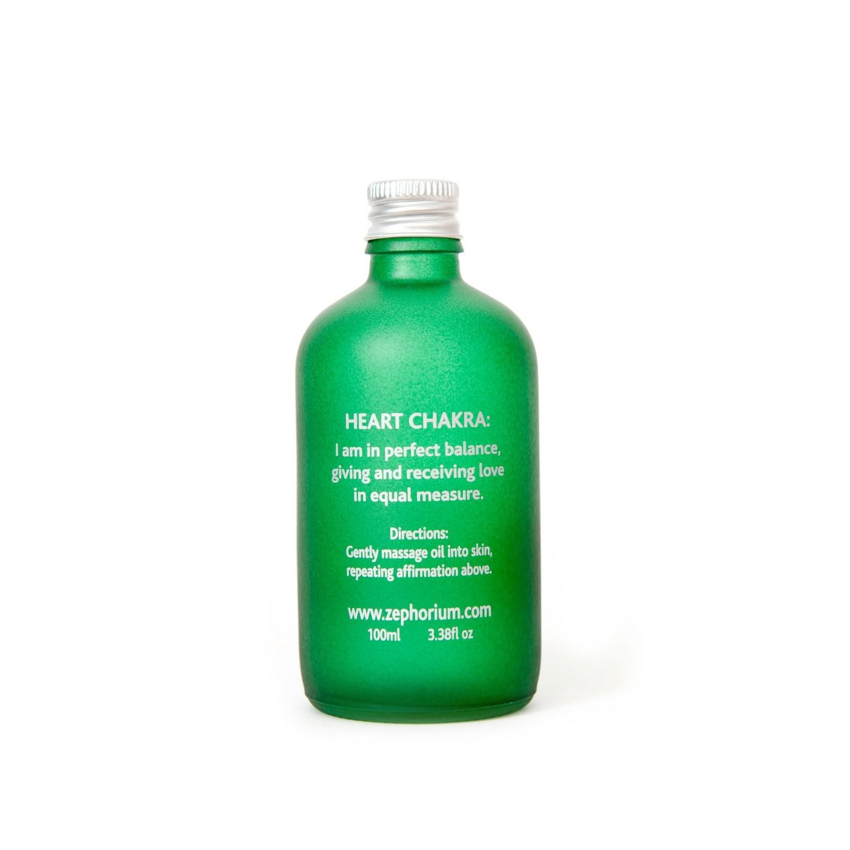 Zephorium Emerald body & massage oil Zephorium - hartchakra