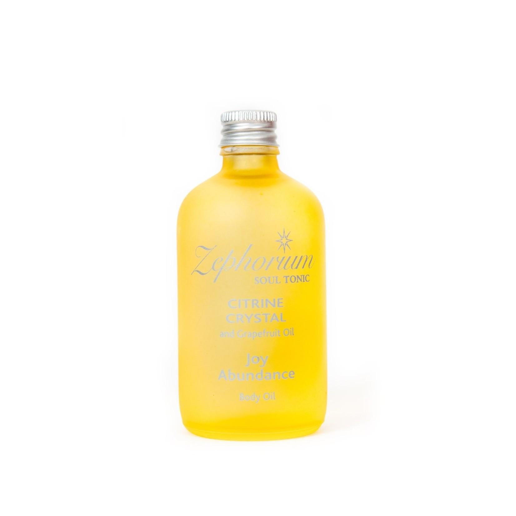 Zephorium Citrine body oil Zephorium - solar plexus chakra