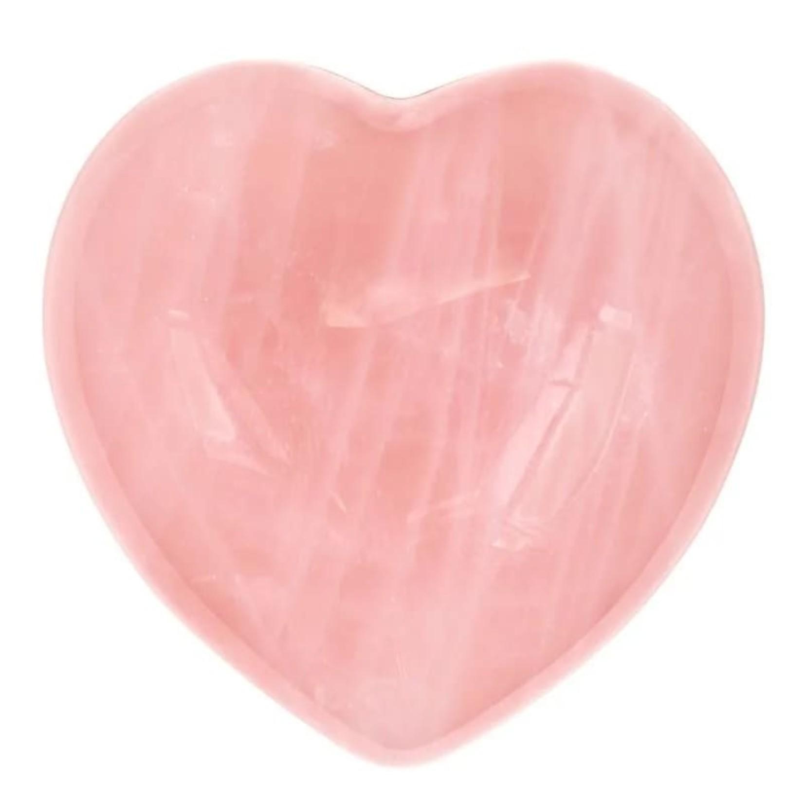 Rozenkwarts hart - 4cm - innerlijke genezing en eigenliefde