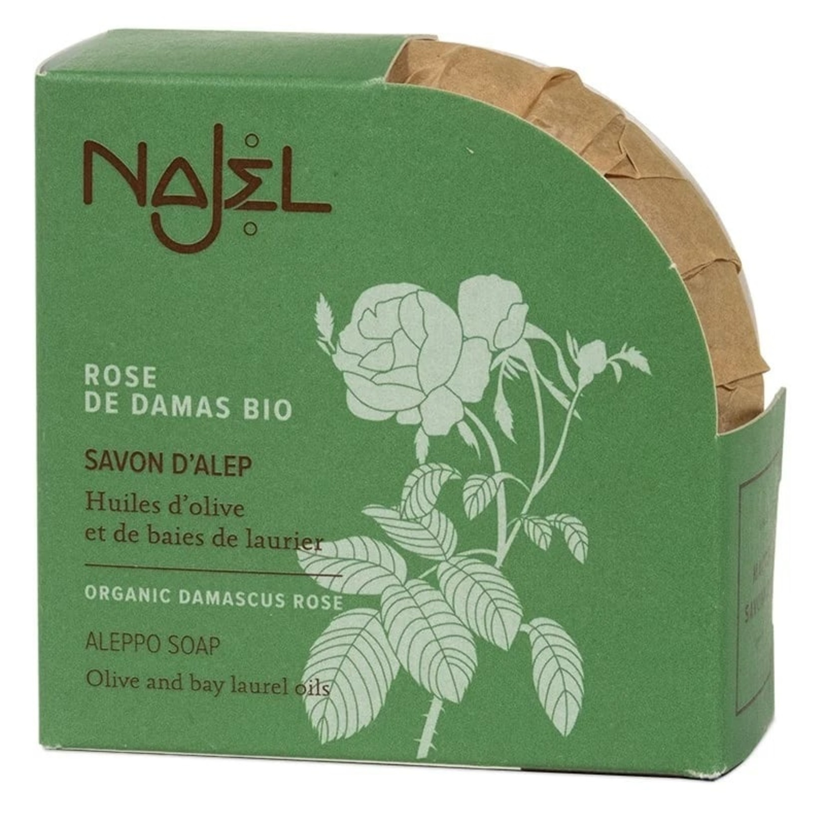 Najel Najel Aleppozeep met Damascus rozenolie – 100 g