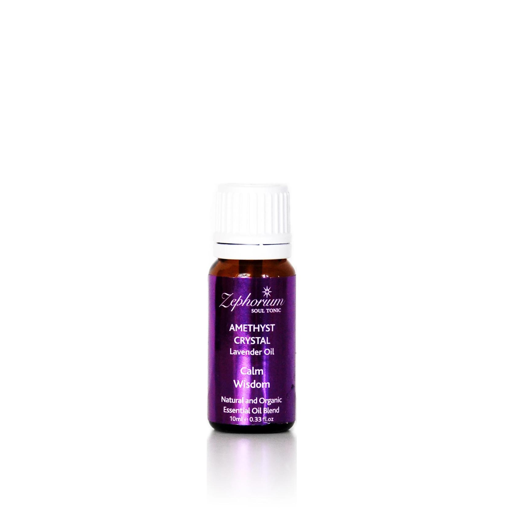 Zephorium Amethyst essential oils blend met kristallen - Zephorium