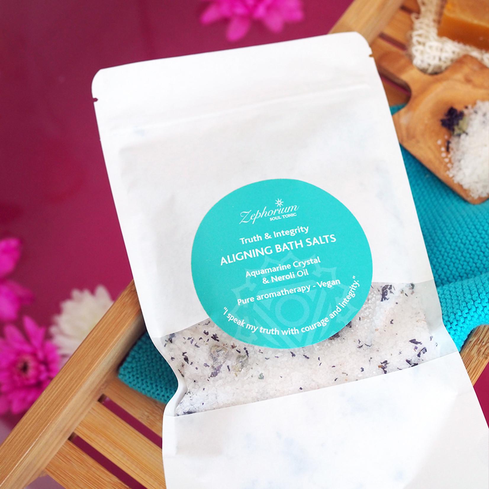 Zephorium Aligning bath salts - aquamarine
