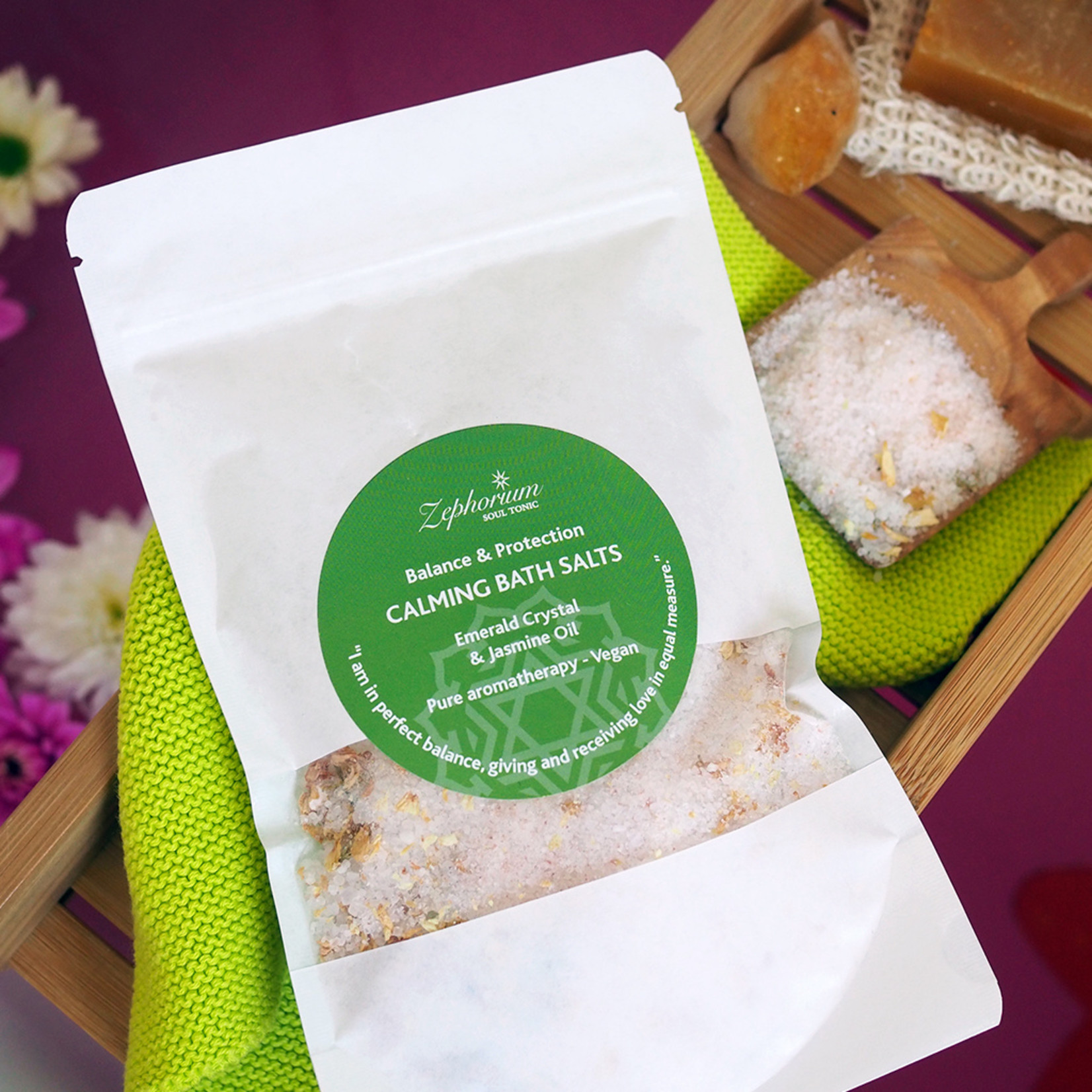 Zephorium Calming bath salts - emerald