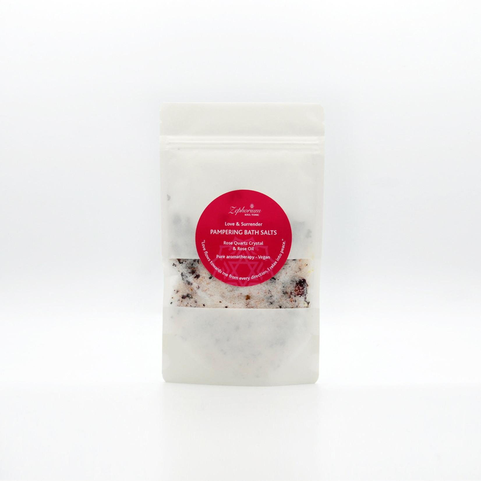 Zephorium Pampering bath salts - rose quartz