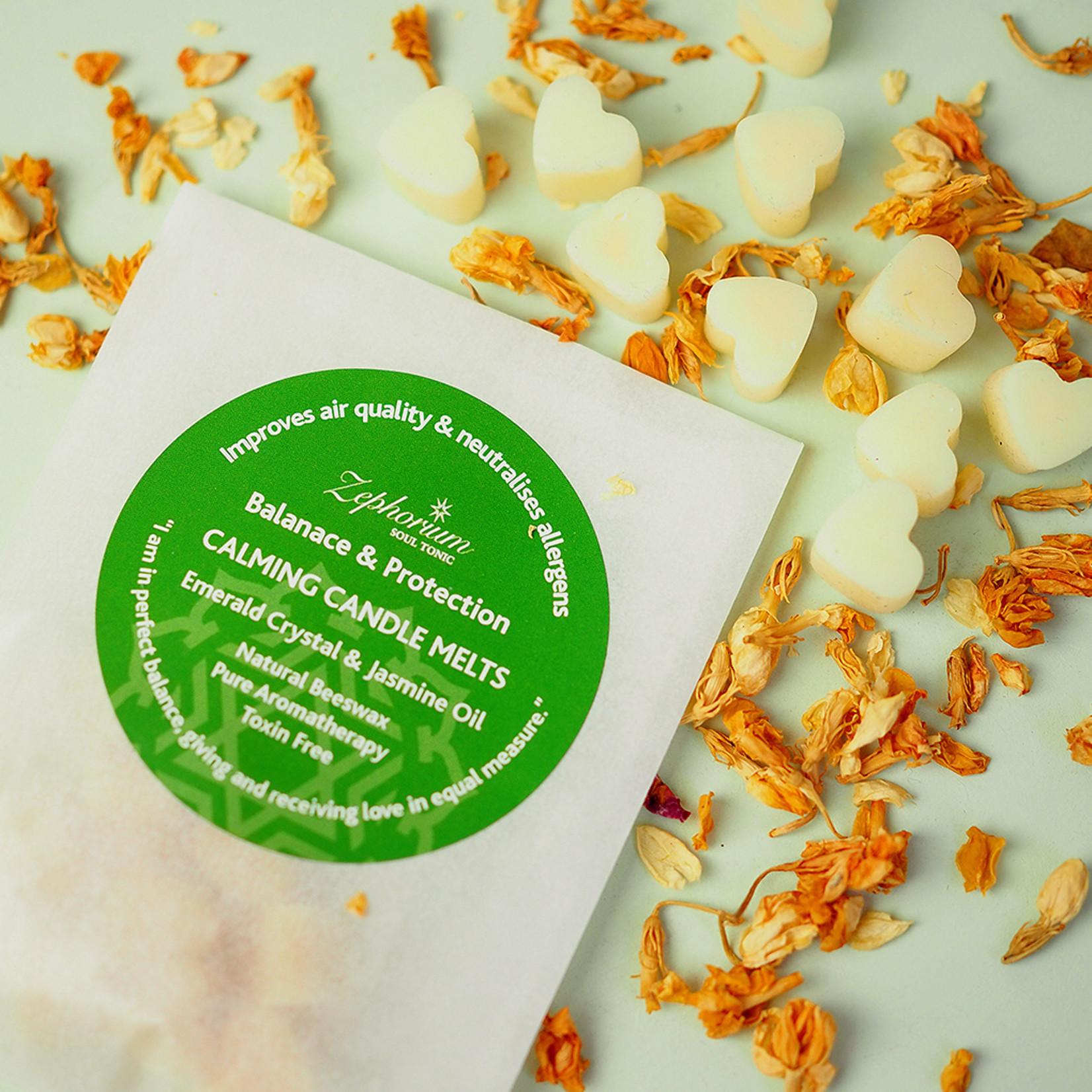 Zephorium Calming emerald wax melts - genieten van een heerlijke geur