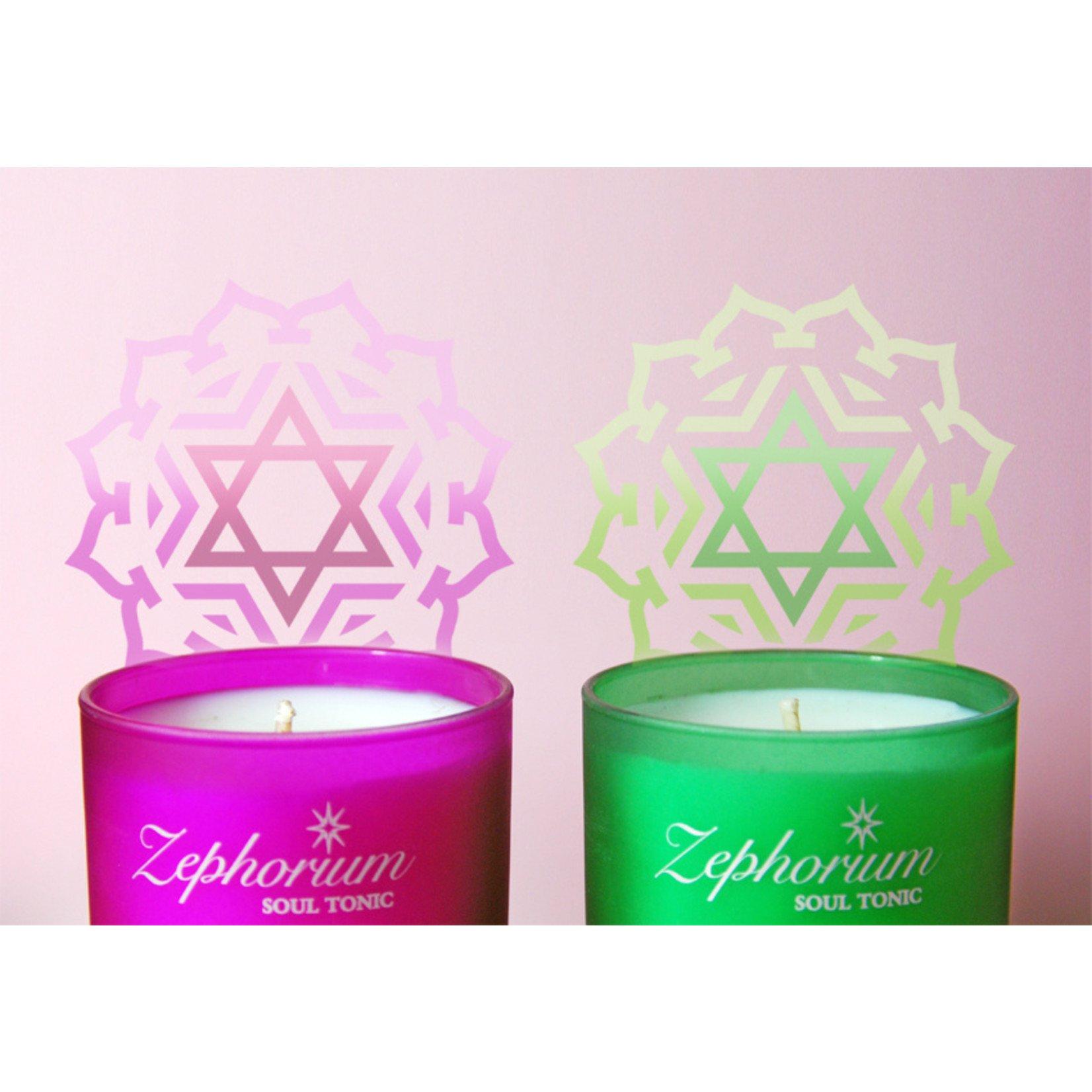 Zephorium Emerald aromatherapiekaars Zephorium - hartchakra