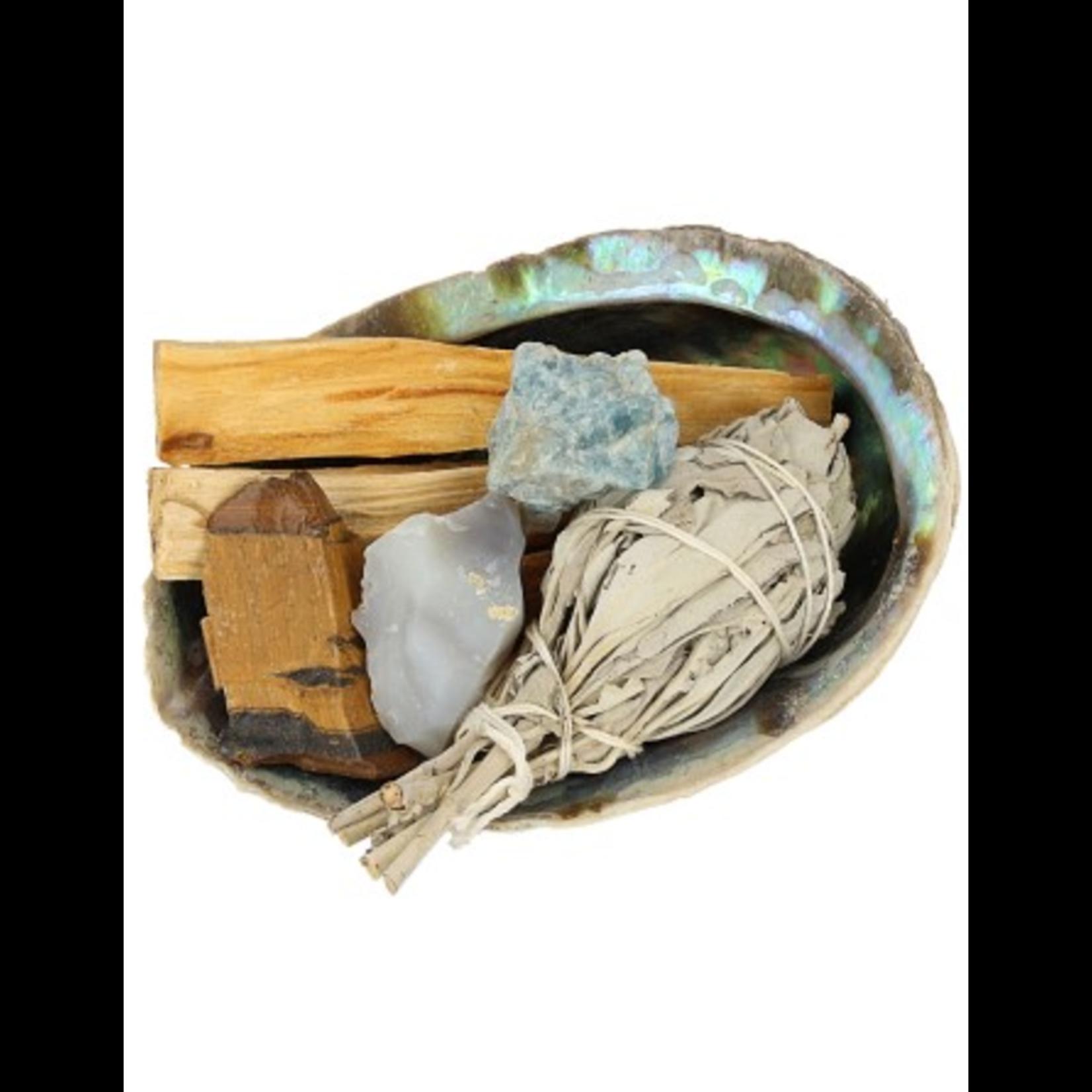 Overvloed & succes kit met abaloneschelp