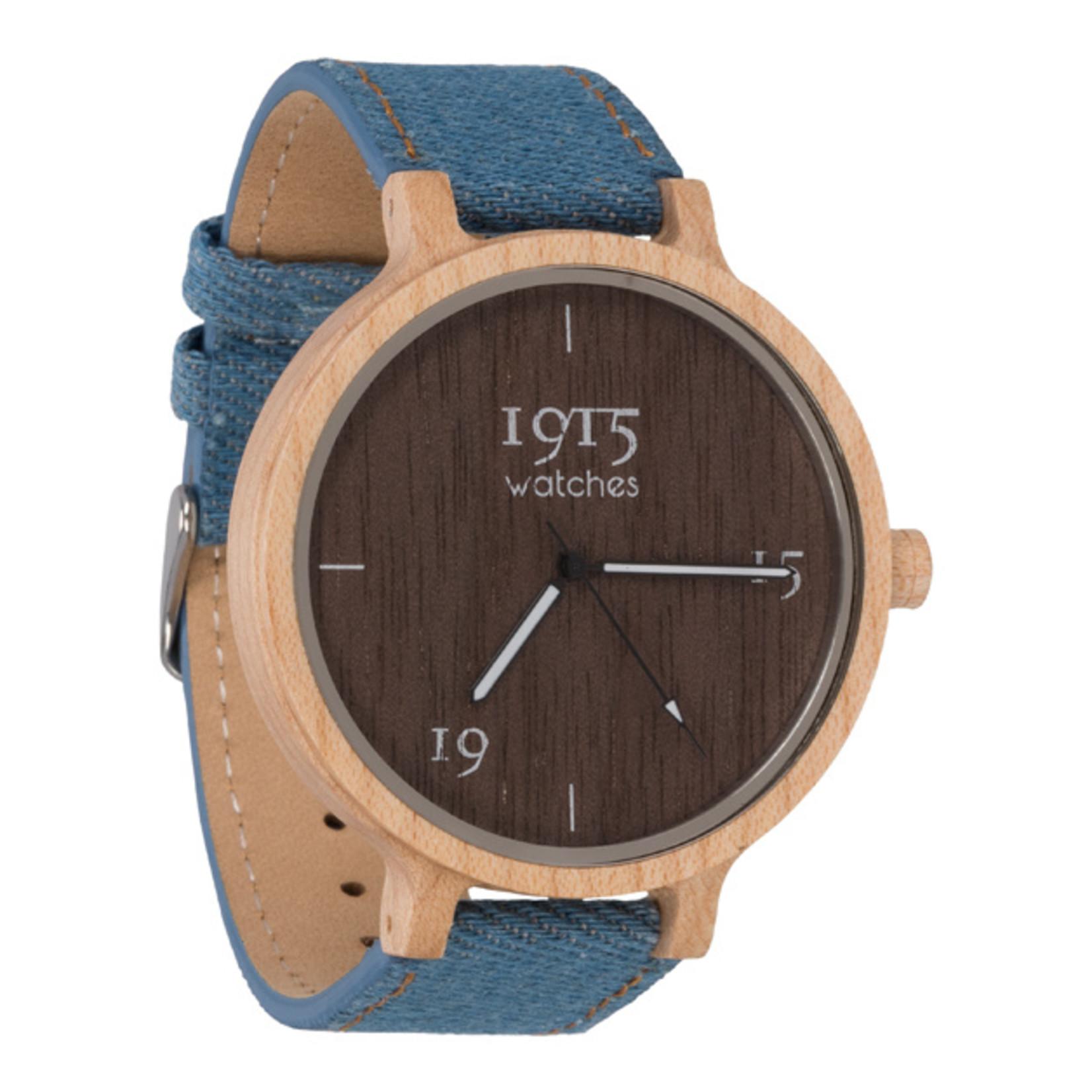 1915 watches 1915 watch men denim RAW | Houten heren horloge