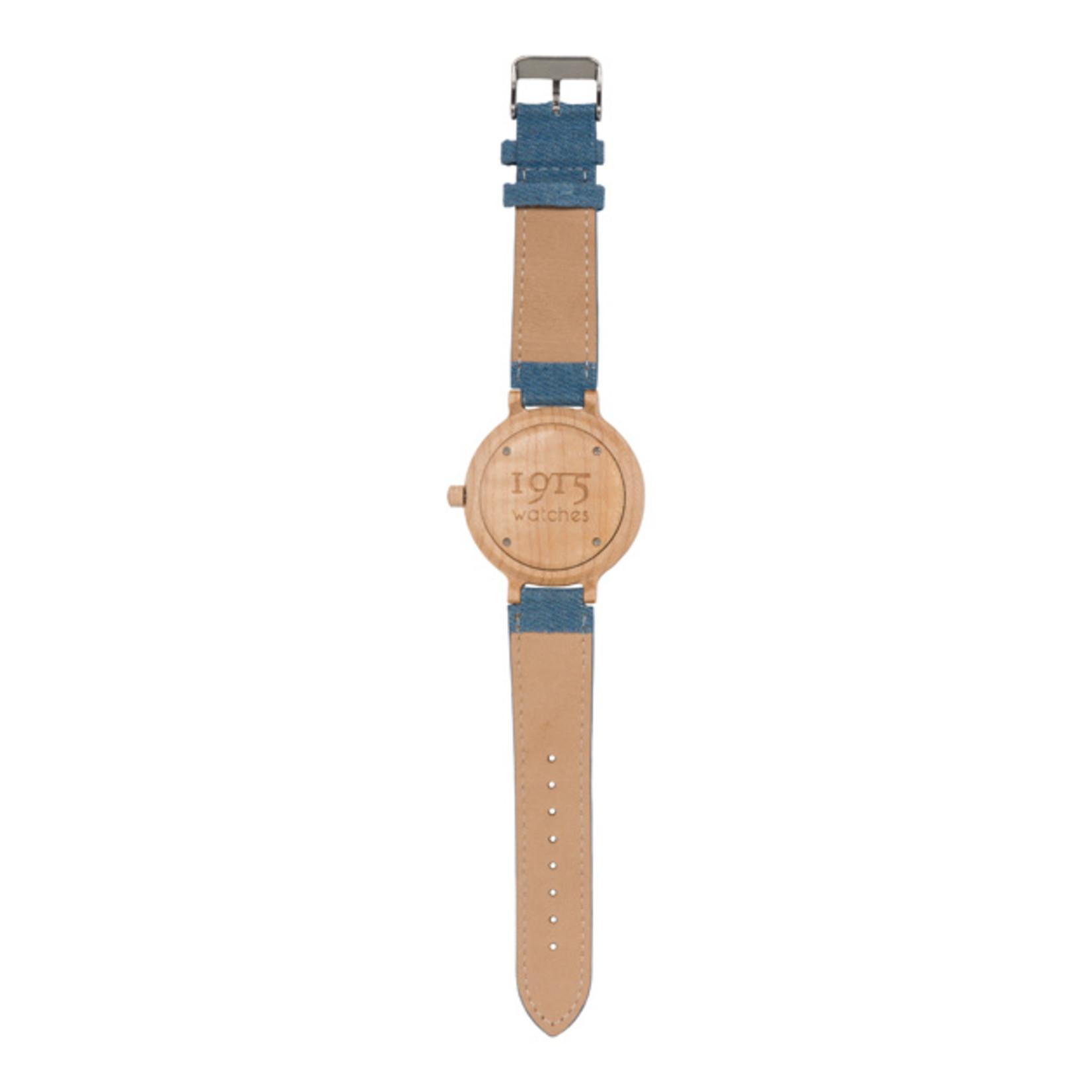 1915 watches 1915 watch lady denim RAW   Houten dames horloge