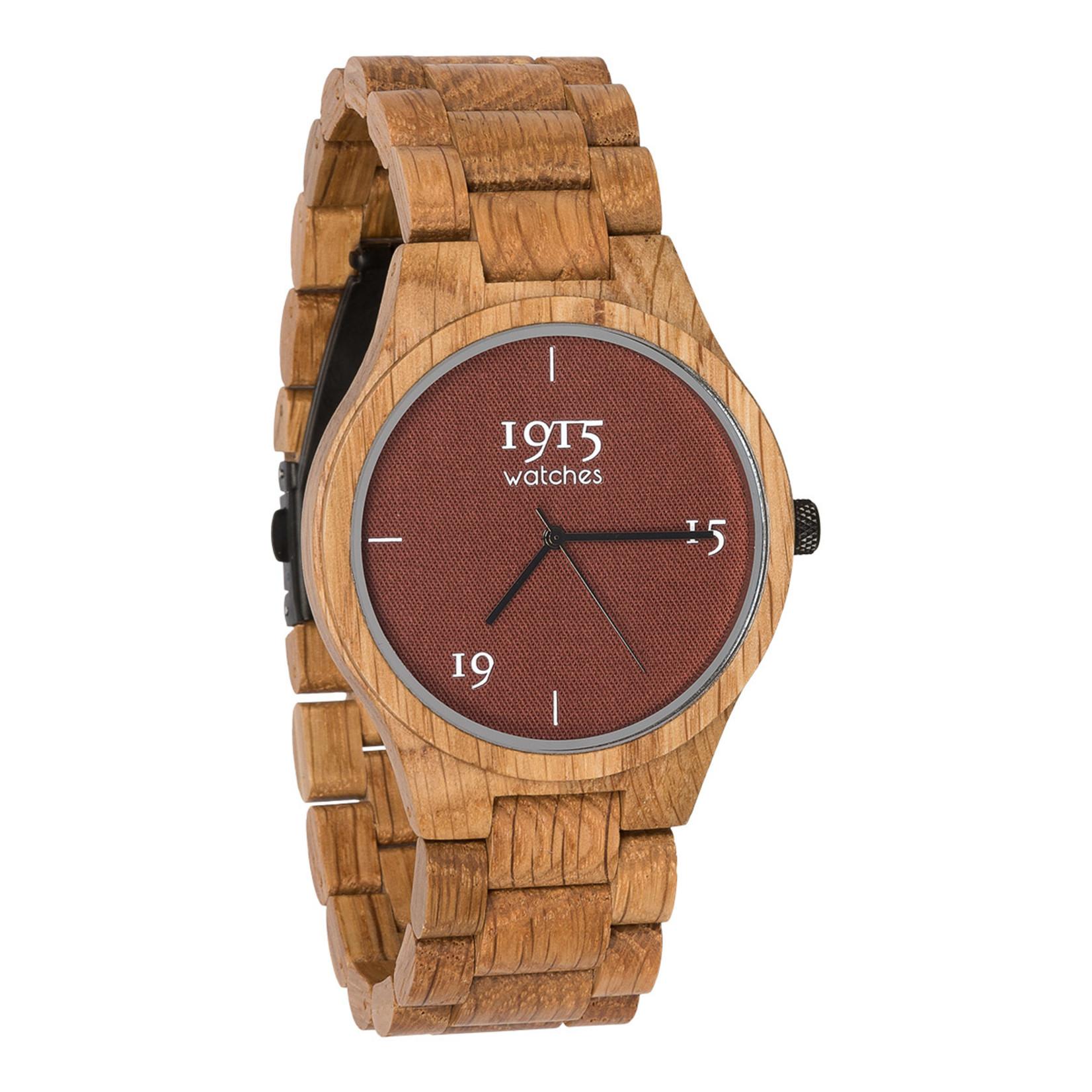 1915 watches 1915 watch men fine cotton madder | Houten heren horloge