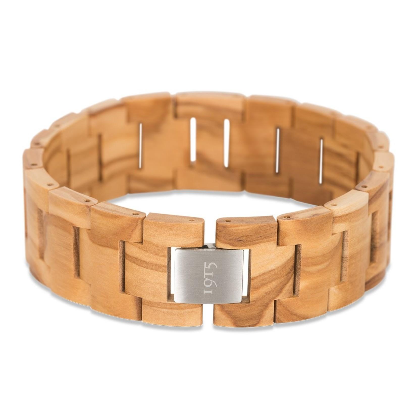 1915 watches 1915 bracelet Olive   Houten schakel armband van 1915 watches   Olijfhout