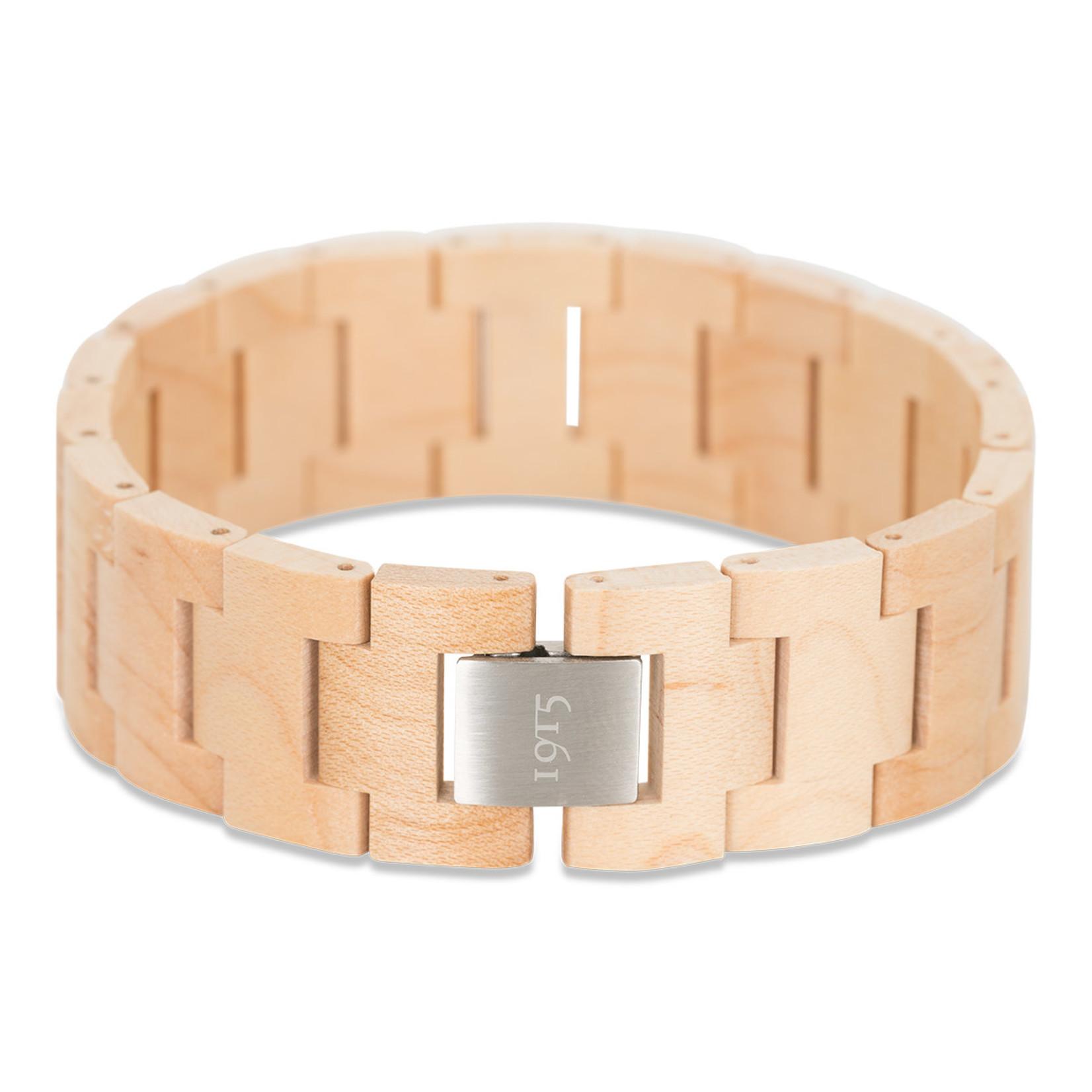 1915 watches 1915 bracelet Maple   Houten schakel armband van 1915 watches   Esdoorn hout
