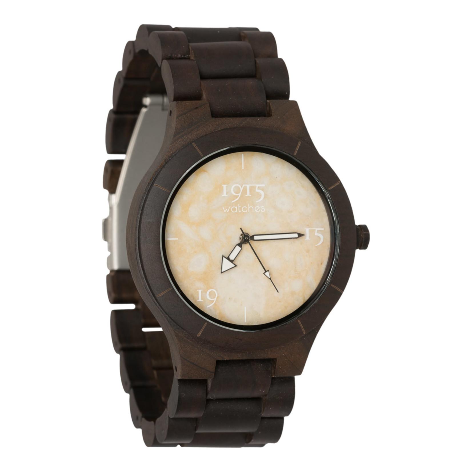 1915 watches 1915 watch men elegance rusty stone | Houten heren horloge