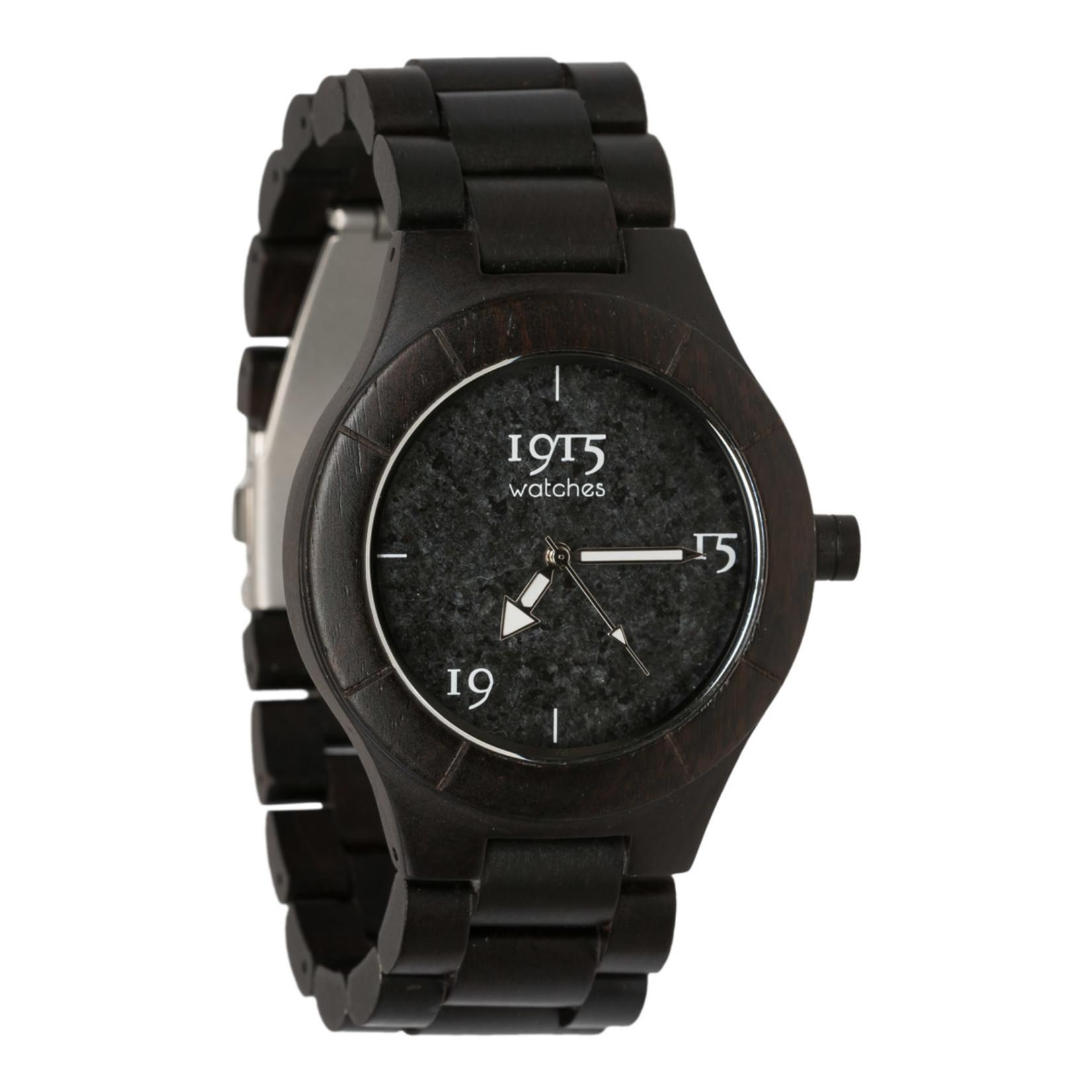 1915 watches 1915 watch men elegance grey stone | Houten heren horloge