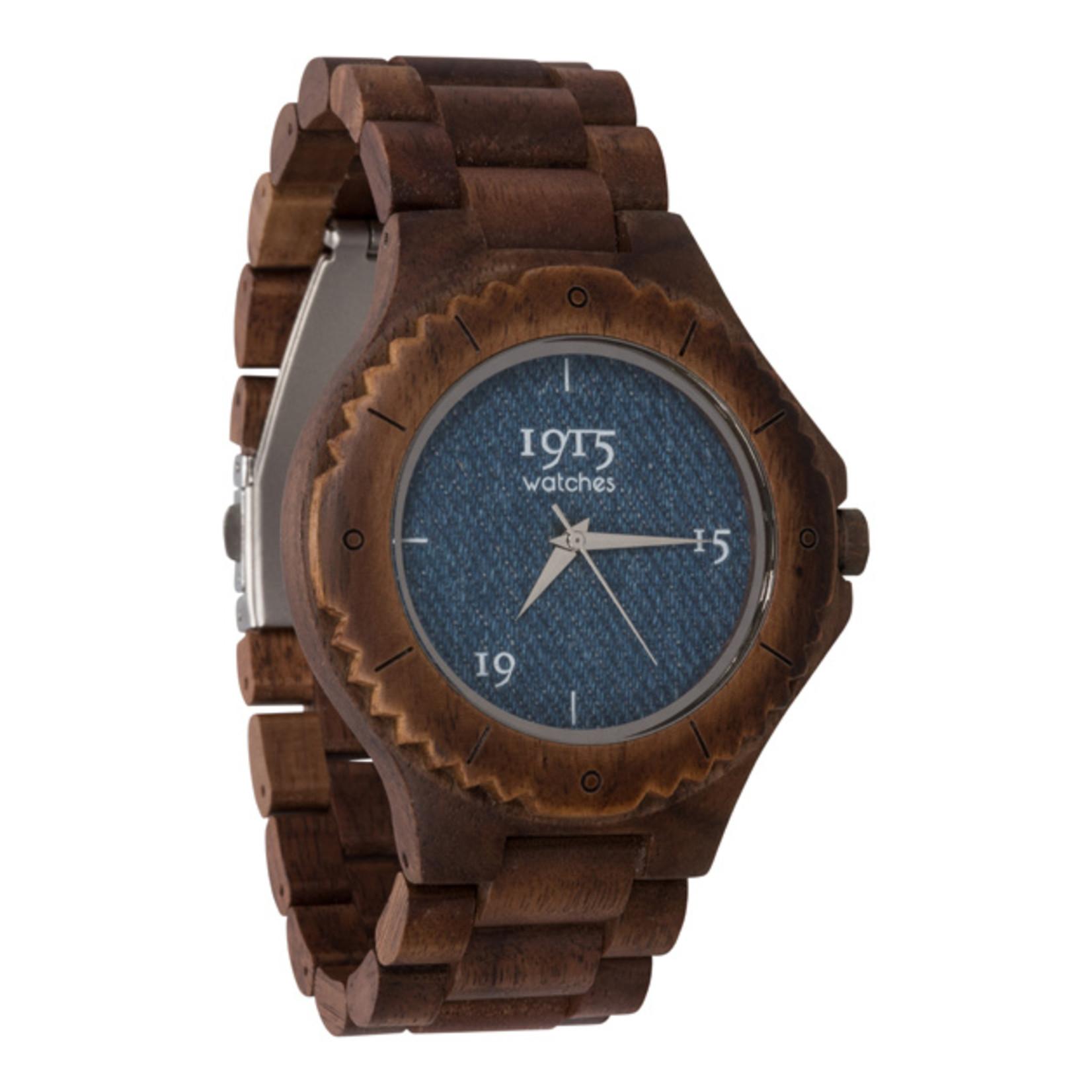 1915 watches 1915 watch men denim   Houten heren horloge
