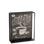 J-Line DECORATIE COFFEE RECHTHOEK RECHT HOUT/METAAL ZWART