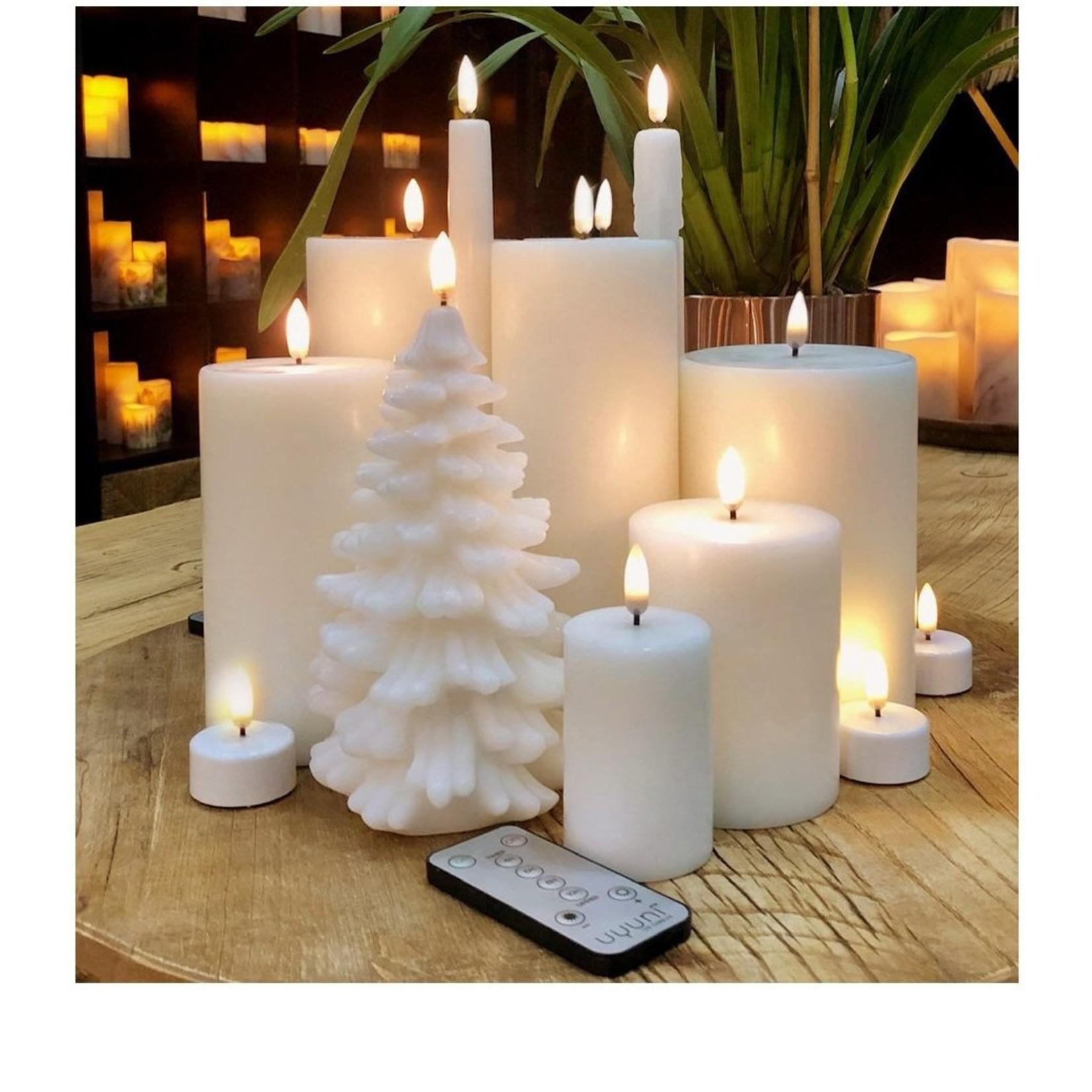 UYUNI LIGHTING CHRISTMAS TREE LED CANDLE - IVORY - Ø11 x 18 CM