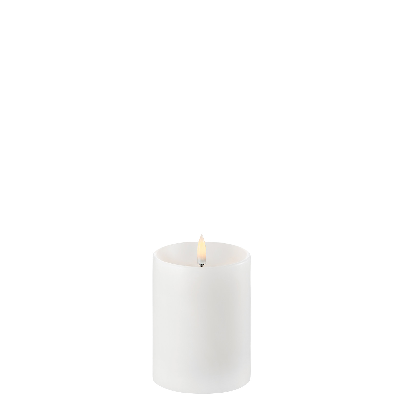 UYUNI LIGHTING LED PILLAR CANDLE - NORDIC WHITE - Ø7,8 x 10 CM - w. Shoulder