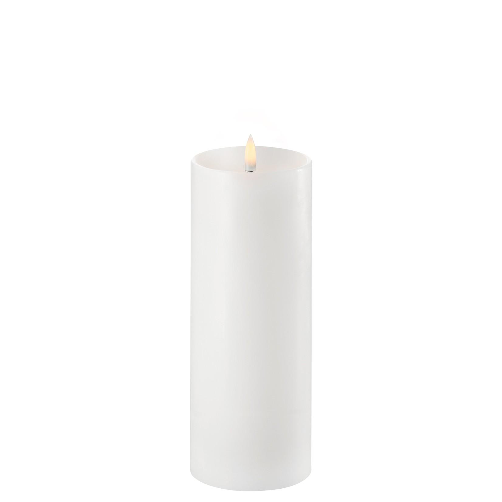 UYUNI LIGHTING LED PILLAR CANDLE - NORDIC WHITE - Ø7,8 x 20 CM - w. Shoulder