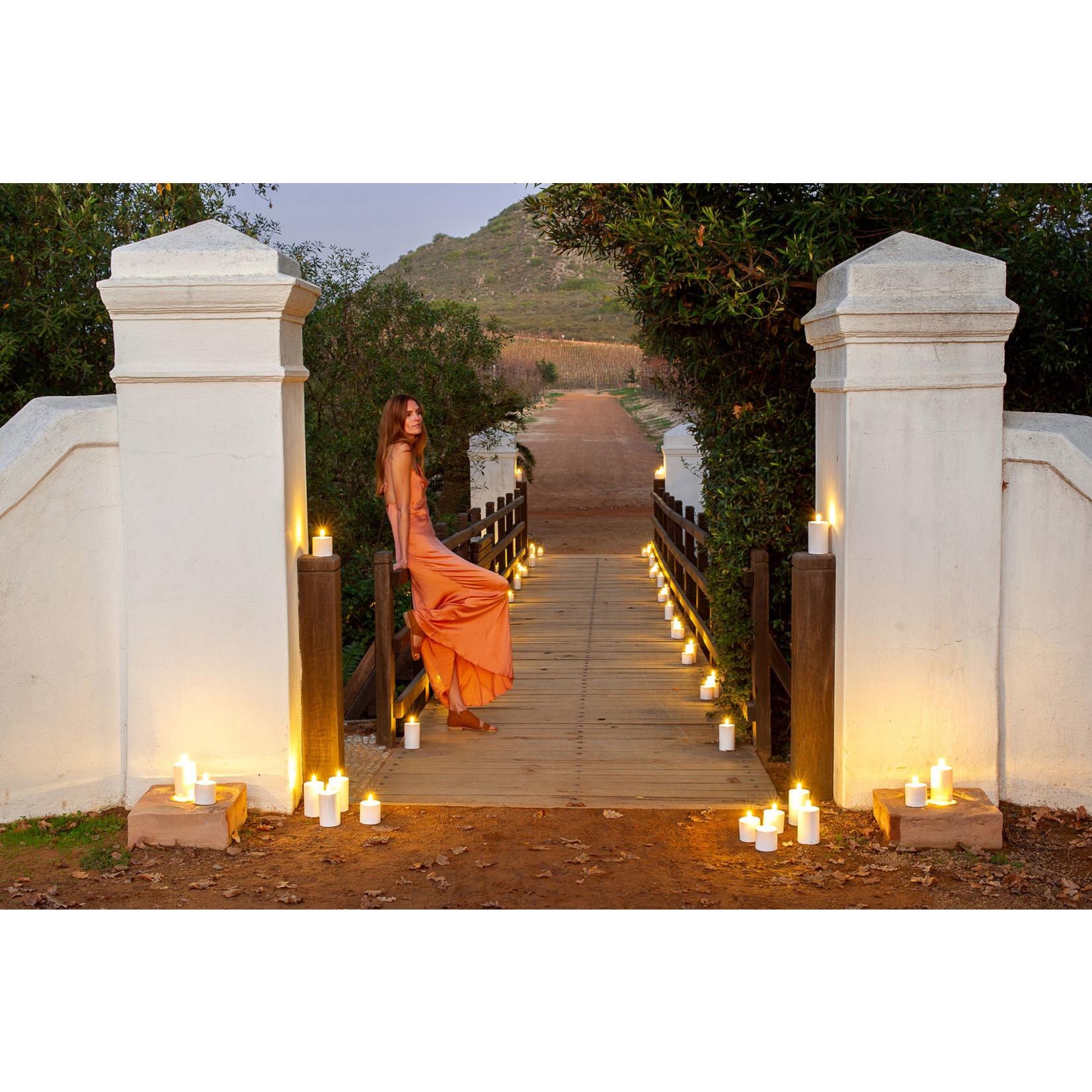 UYUNI LIGHTING Outdoor LED Pillar Candle - White - Ø7,8 x 12,7 cm