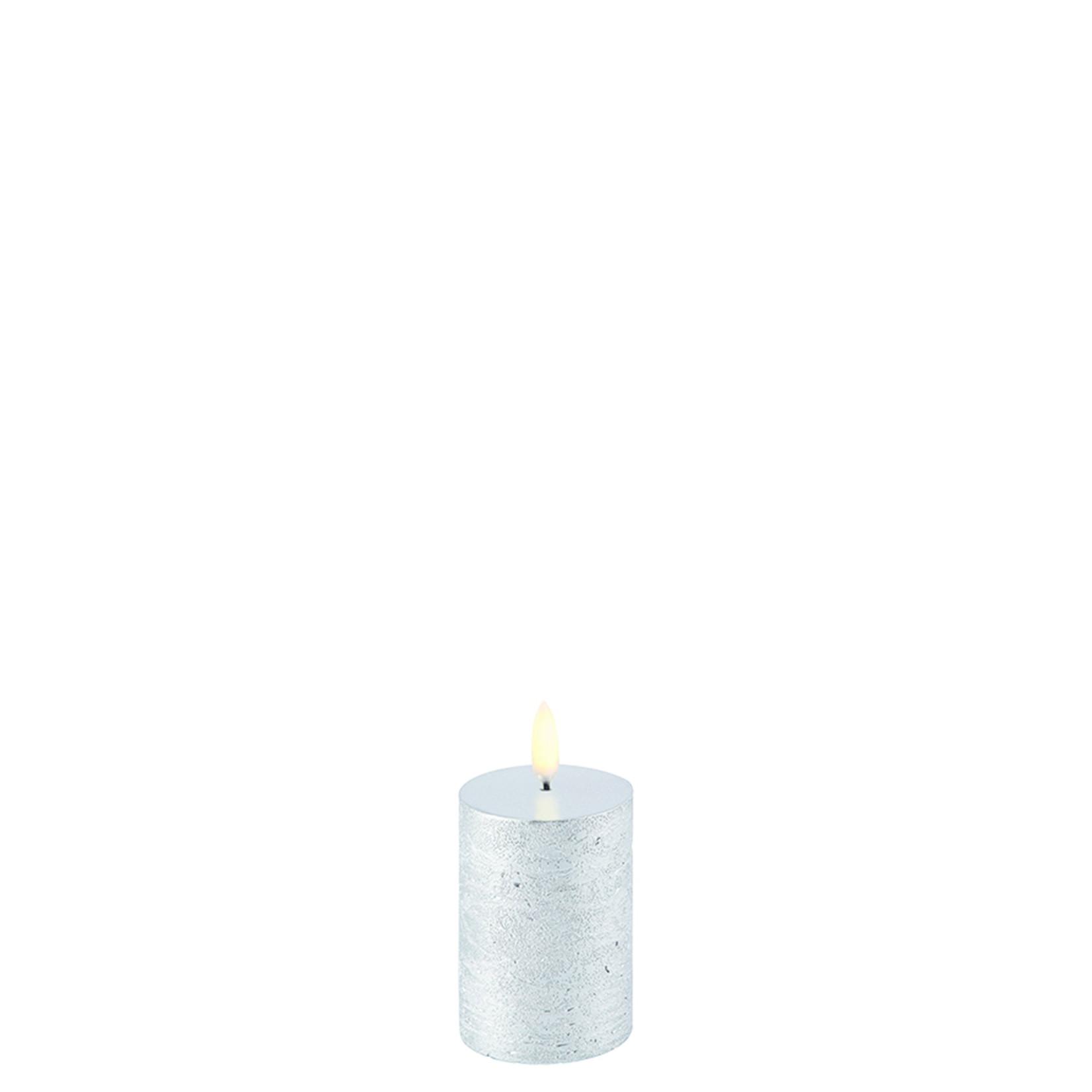 UYUNI LIGHTING LED PILLAR CANDLE - METALLIC SILVER - Ø5 x 7,5 CM