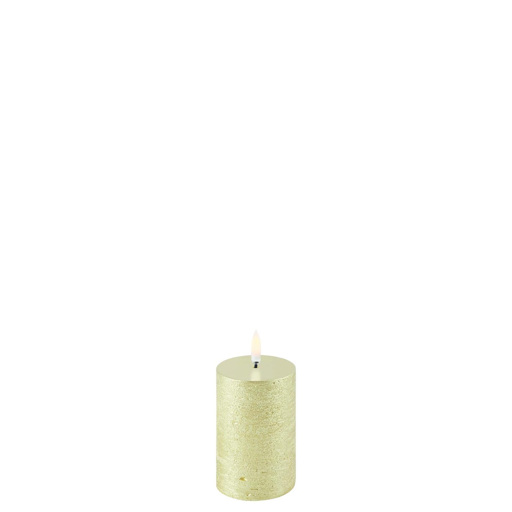 UYUNI LIGHTING LED PILLAR CANDLE - METALLIC GOLD - Ø5 x 7,5 CM