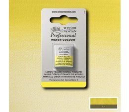 Winsor & Newton aquarelverf 1/2napje s4 lemon yellow hue nickeltita 347
