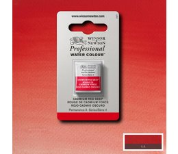 Winsor & Newton aquarelverf 1/2napje s4 cadmium red deep 097