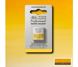 Winsor & Newton aquarelverf 1/2napje s1 winsor yellow deep 731