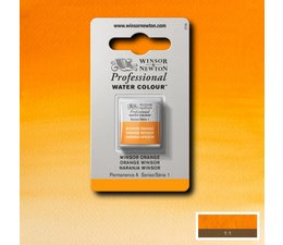 Winsor & Newton aquarelverf 1/2napje s1 winsor orange 724