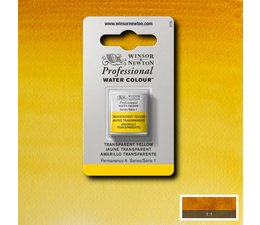 Winsor & Newton aquarelverf 1/2napje s1 transparant yellow 653