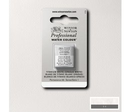 Winsor & Newton aquarelverf 1/2napje s1 titanium white 644