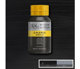 Winsor & Newton Galeria acrylverf 500ml 337 lamp black