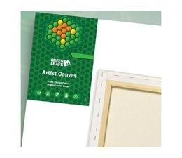 Green Leafs Cotton Canvas 20x20cm