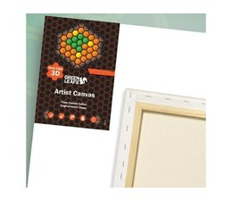 Green Leafs Cotton Canvas 3D 20x20cm