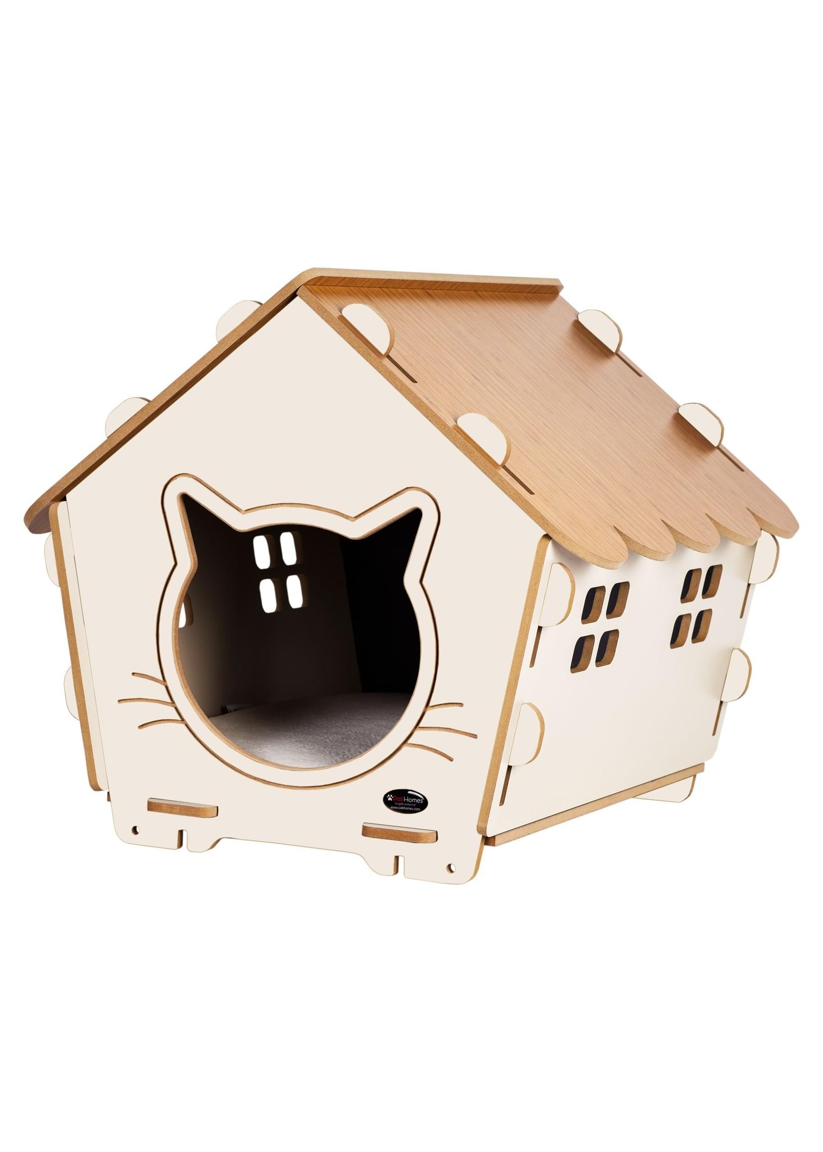 Pati Homes Kattenhuis XL met raam Beige