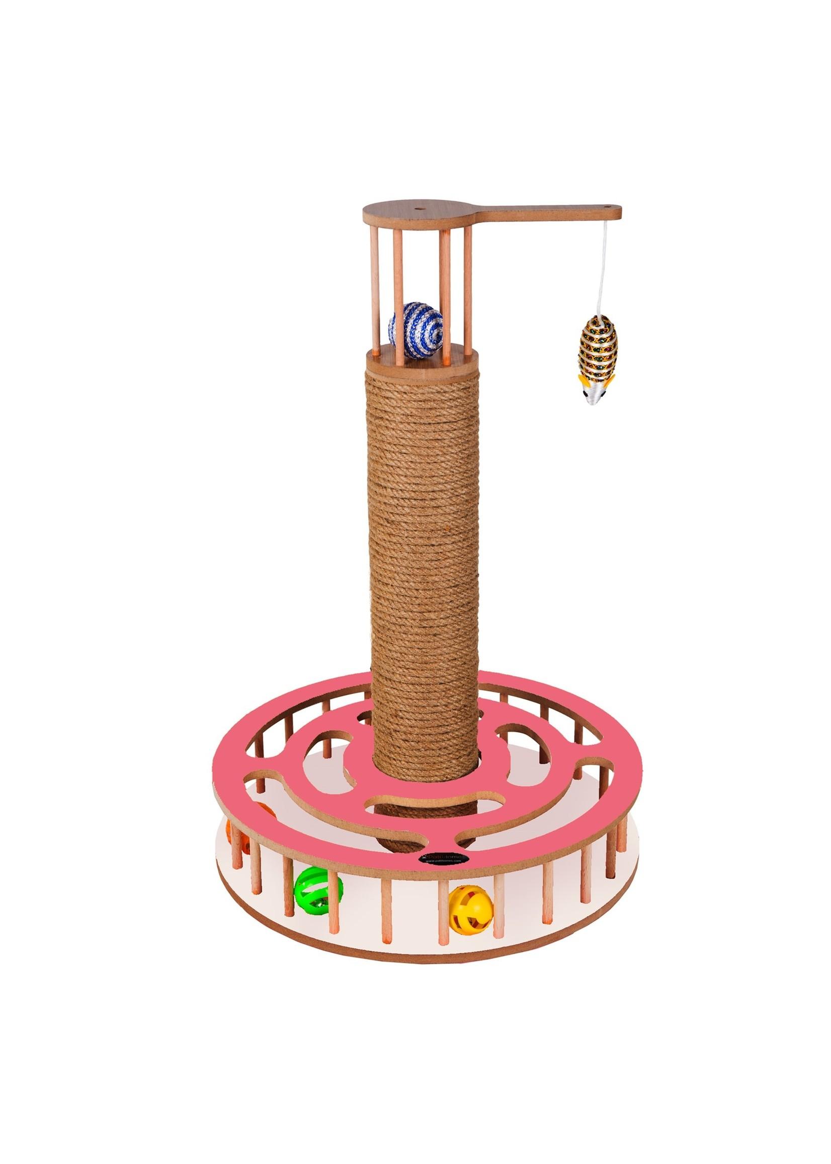 Pati Homes Katten speeltoestel rond  Roze