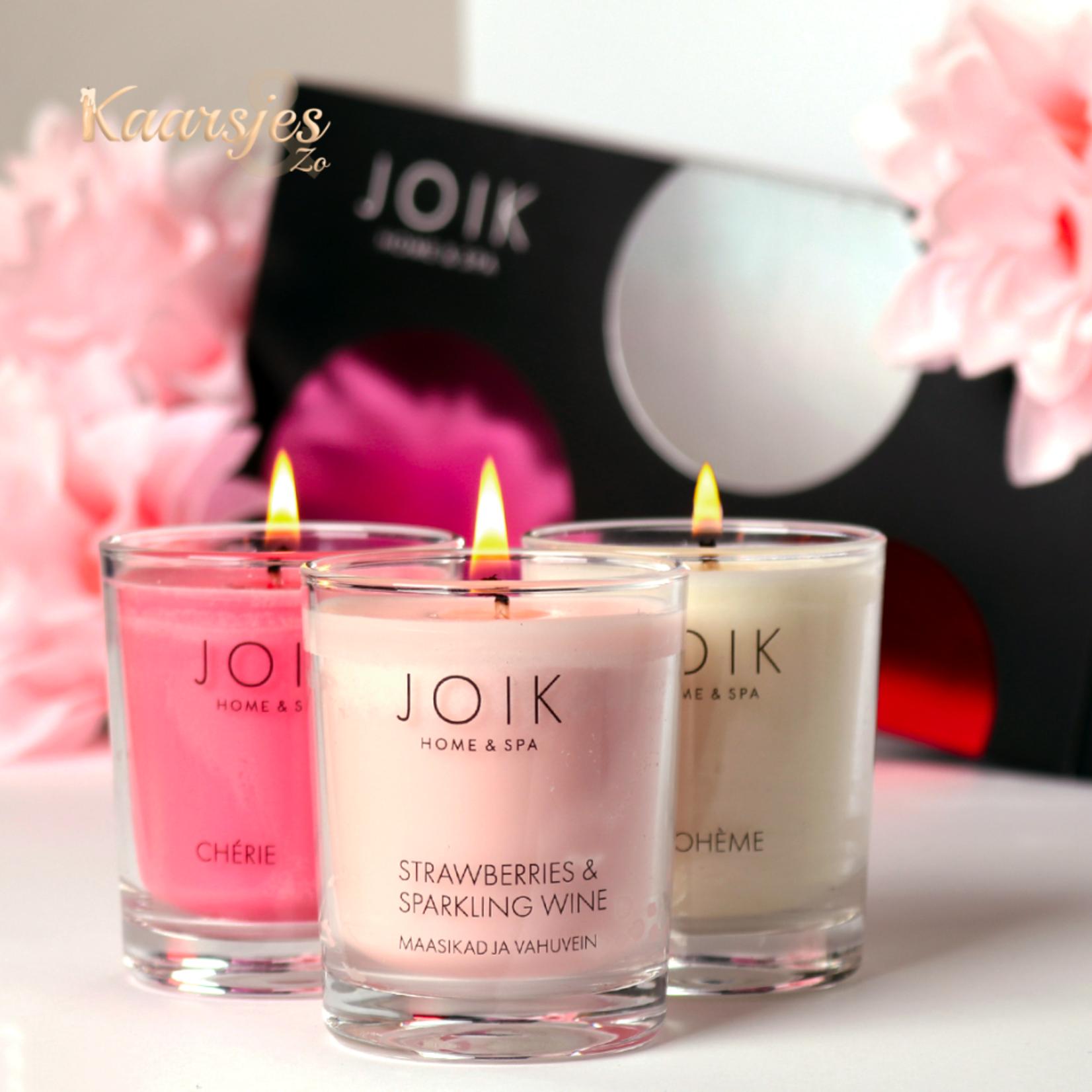 JOIK Vegan Romantic Candle Trio Giftset