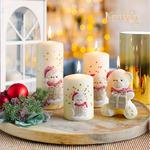 Kerstkaars Christmas Teddy 11 cm