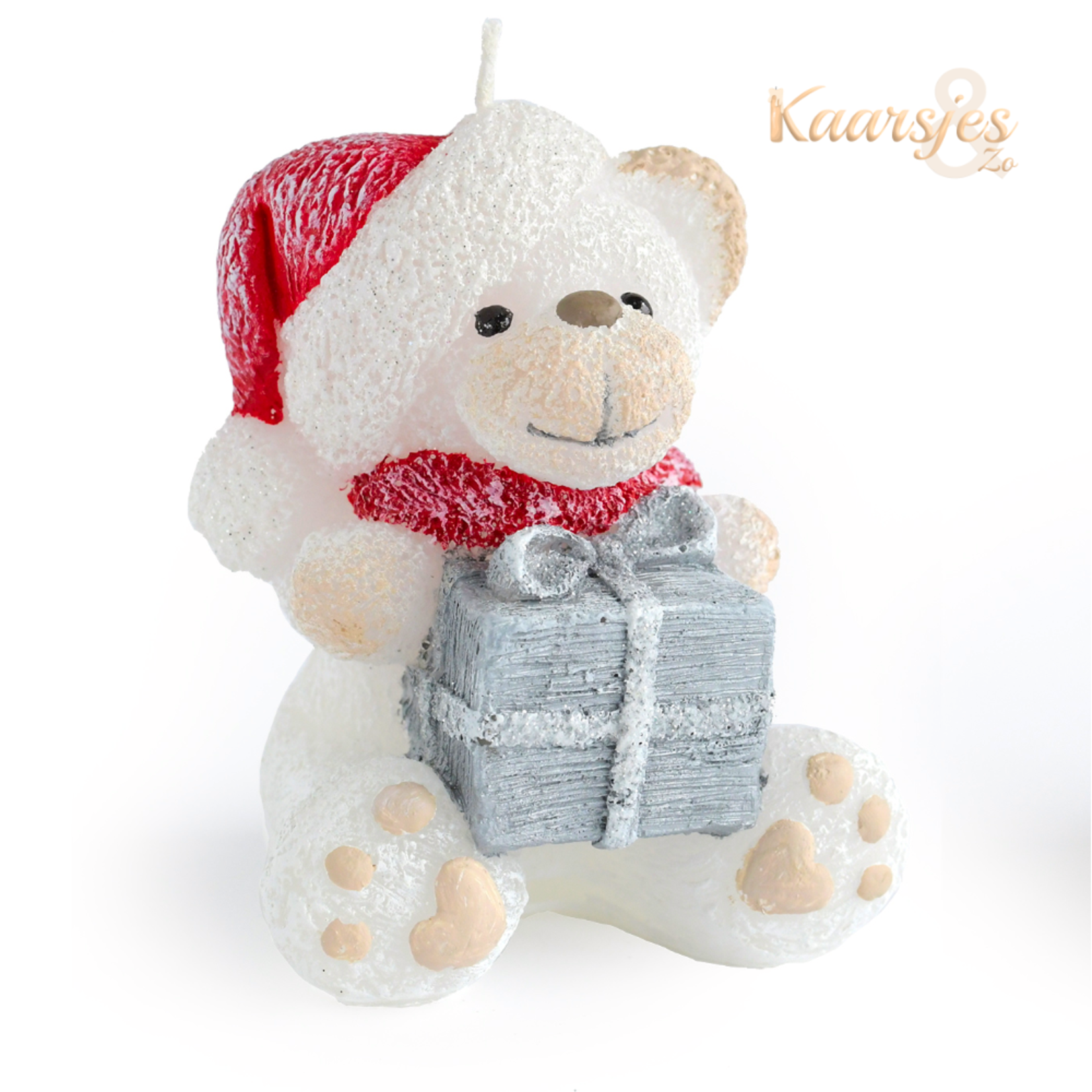 Kerstkaars Kerst Teddy 11 cm