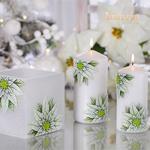 Sierkaars Christmas Flower White