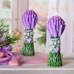 Geurkaars Lavendel Boeket 23 cm