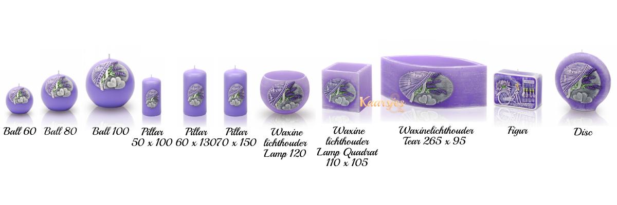 geurkaars en sierkaars lavender collectie lavendel