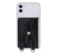 My Style Crossbody Stick-On Phone Pocket with RFID Black Croco