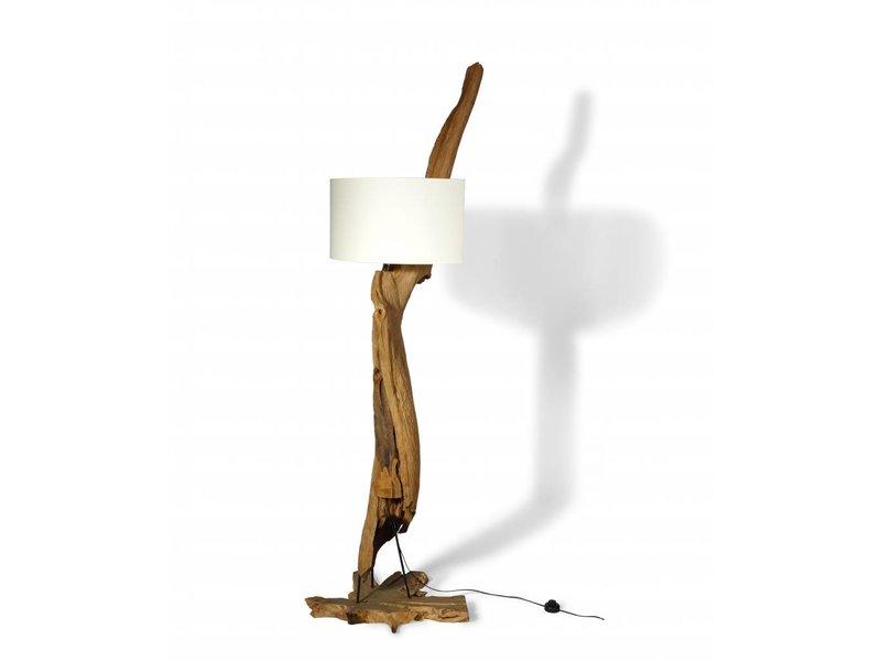 Teakholz Lampe Lengkung