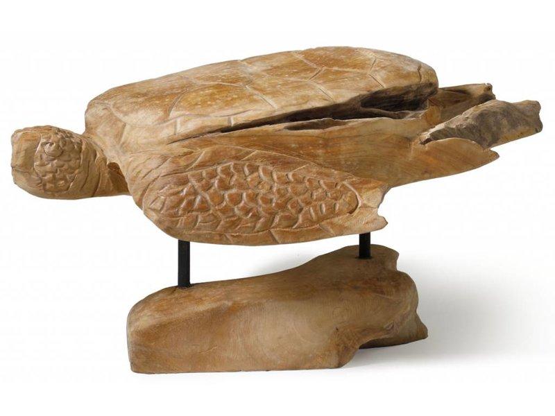 Schildkröte aus Teakholz