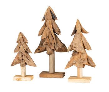 Weihnachtsbaum Klein Flach (satz von drei)