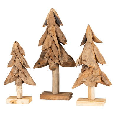 Weihnachtsbaum Flach (satz von drei)