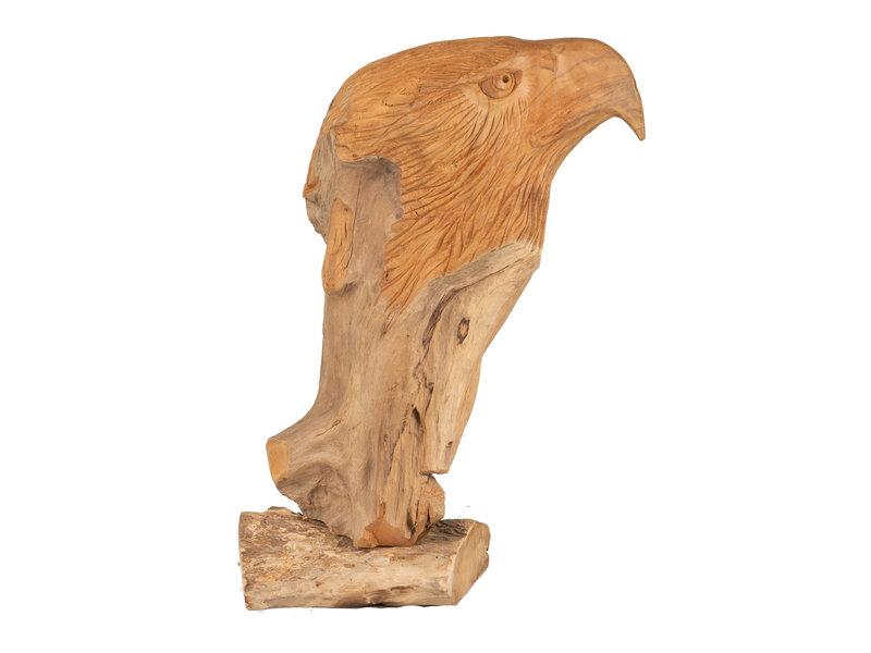 Teakholz Adler Skulptur